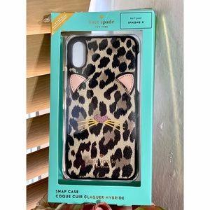 Kate Spade Cat Leopard iPhone X Case